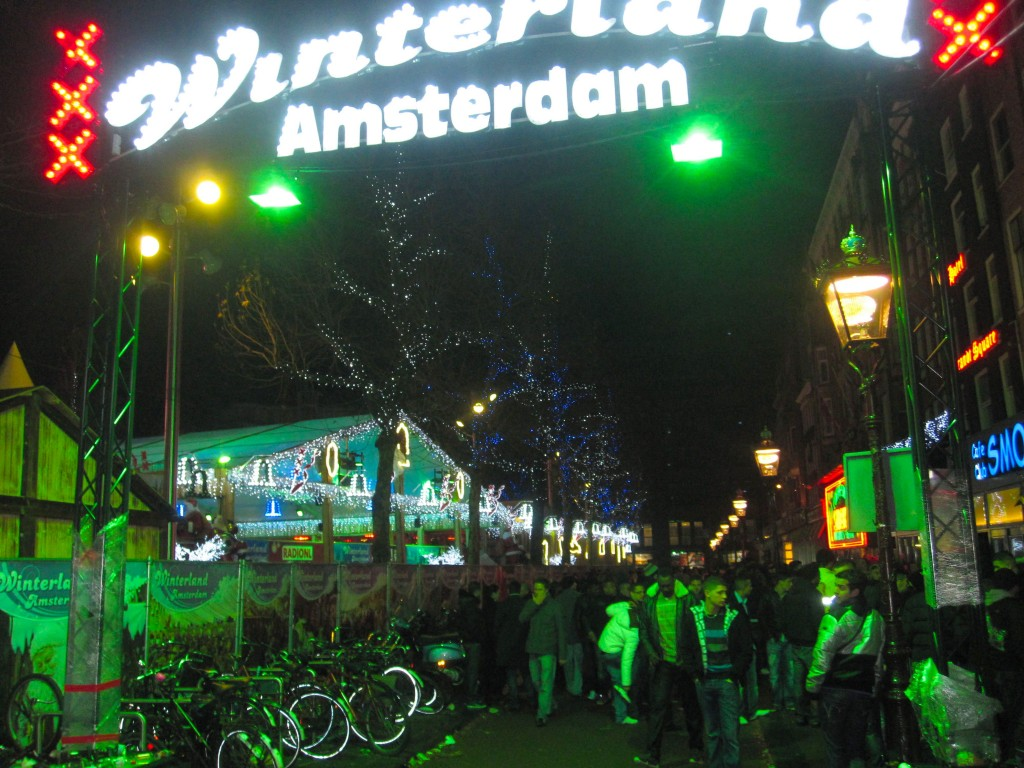 Amsterdam in the winter.