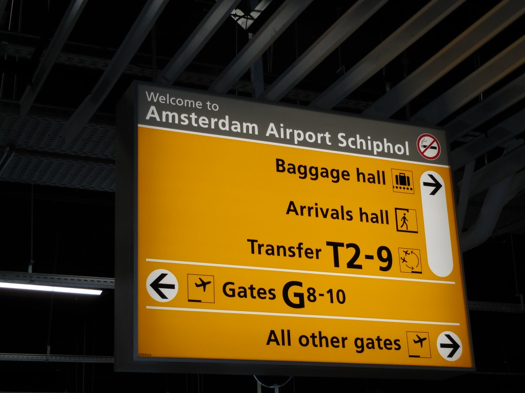 Pic of Amsterdam Schipol Airport taken while traveling through the Netherlands