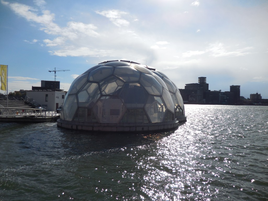 Rotterdam has some amazing architecture like this dome on  water.