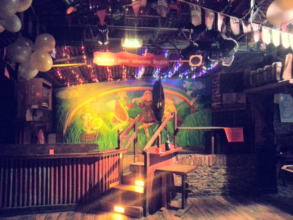 The stage at Paddy Murphy's Irish Bar.