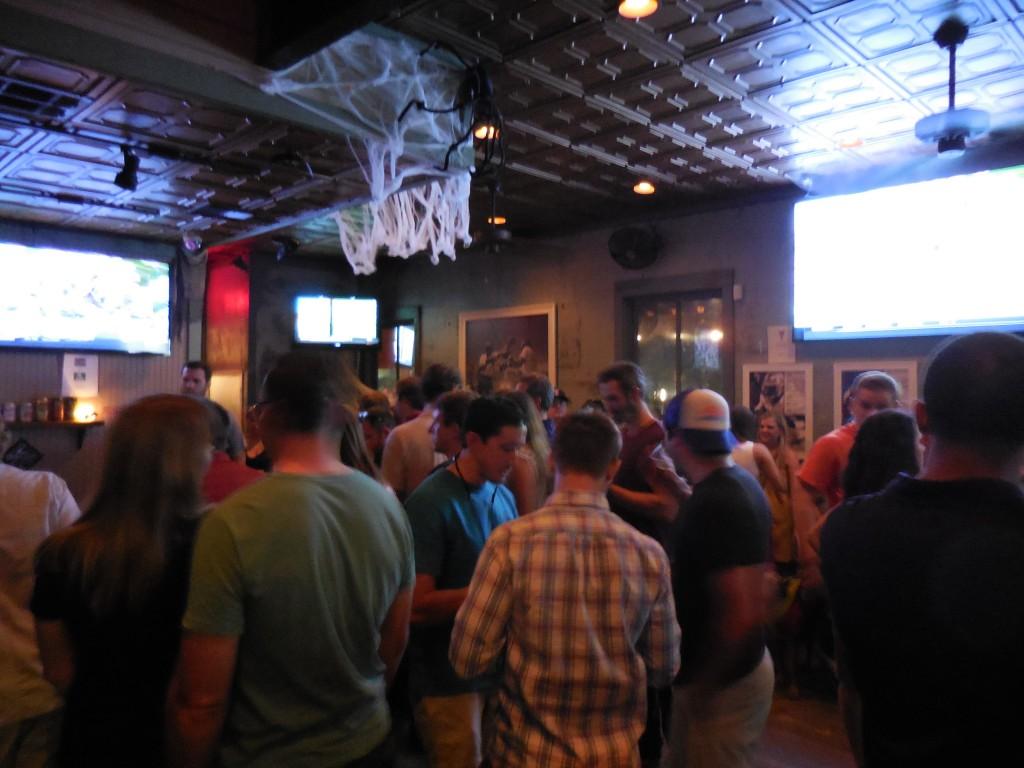 pic of the Bungalow bar on Rainey Street Austin taken while traveling through Austin, Texas