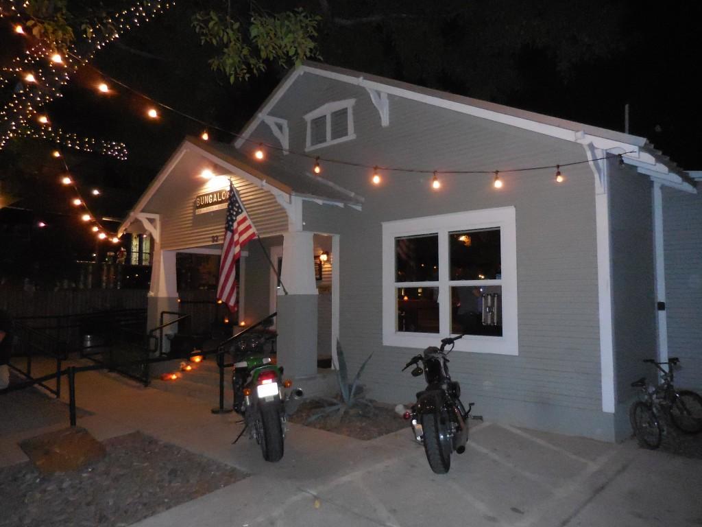pic of a Rainey Street Austin bungalow taken while traveling through Austin, Texas