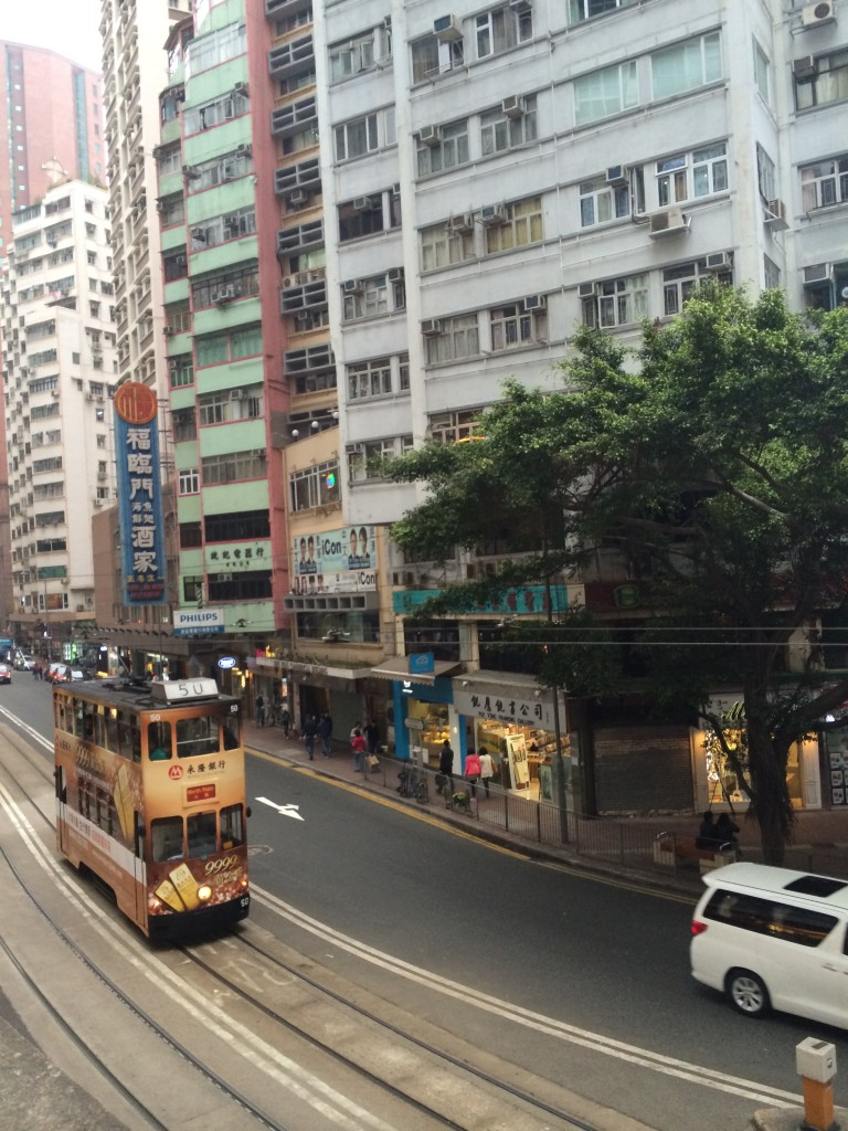 Pic of Hong Kong tram taken while traveling through HK