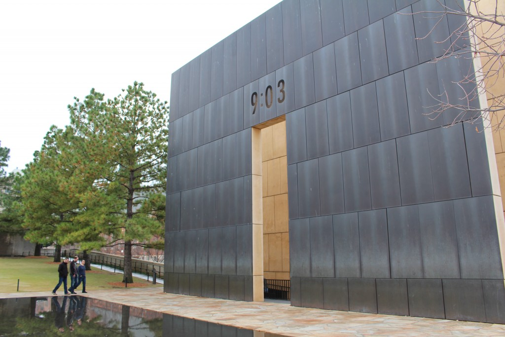Picture of the 1995 OKC bombing memorial taken while traveling through OKC