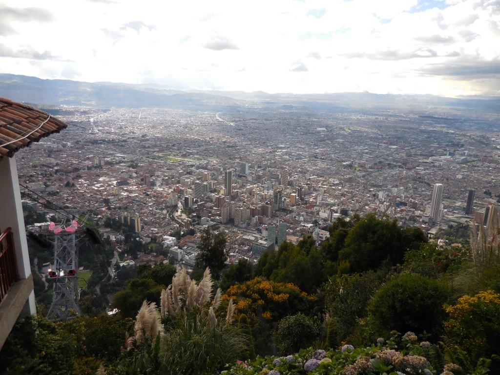 Bird's eye view of downtown Bogota