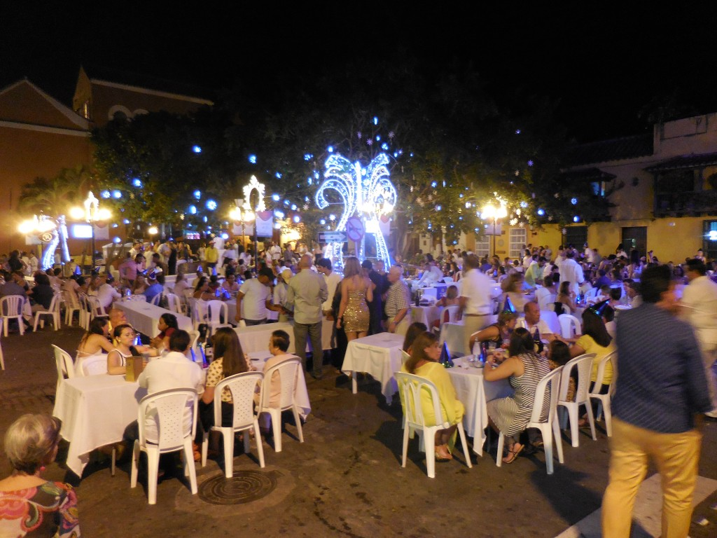 street parties in Cartagena on 2015 NYE