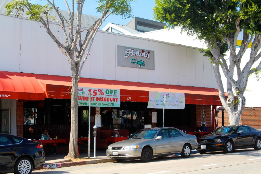 Habibi Cafe is a popular hookah lounge in Westwood Los Angeles