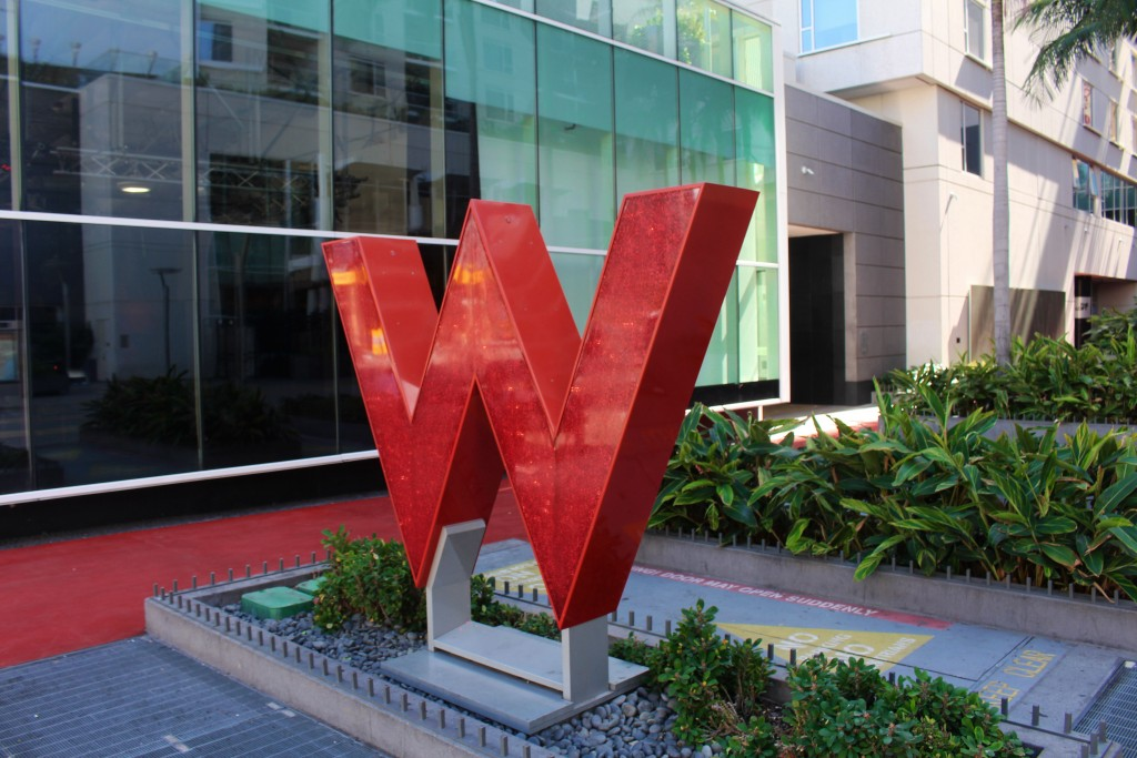The W Hotel in Hollywood Los Angeles