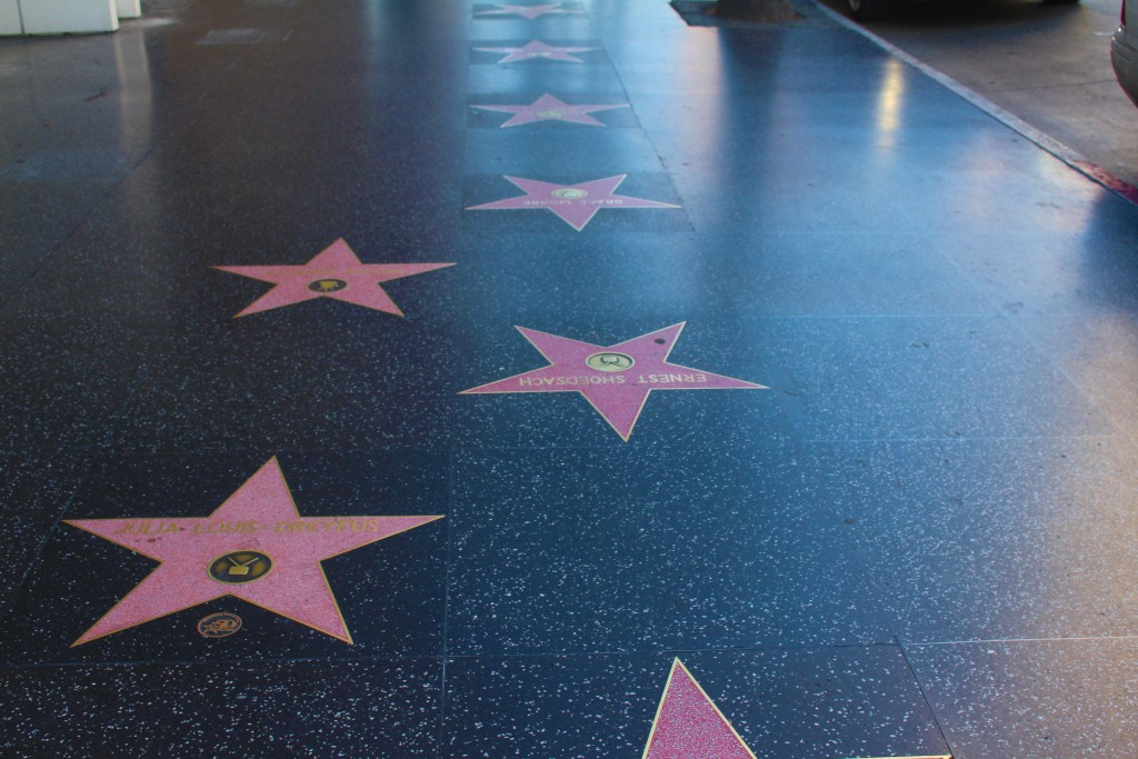 The Iconic Hollywood Walk Of Fame in Hollywood Los Angeles