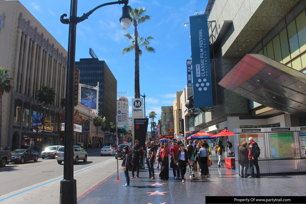 There are lots of Street Acts on Hollywood Boulevard.