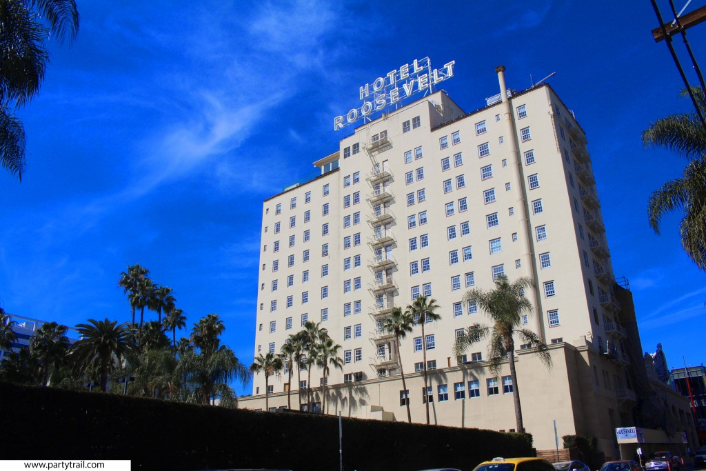 The Hotel Roosevelt is a landmark in Hollywood Los Angeles