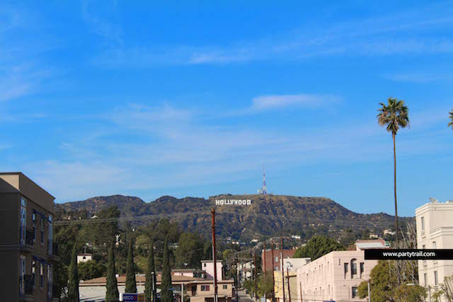 The Iconic Hollywood sign in Los Angeles, California