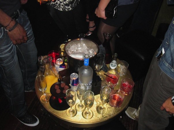 Bottle Service At A Nightclub in Hollywood California