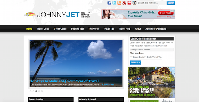 Johnny Jet is a blog that gives useful tips on savvy travel