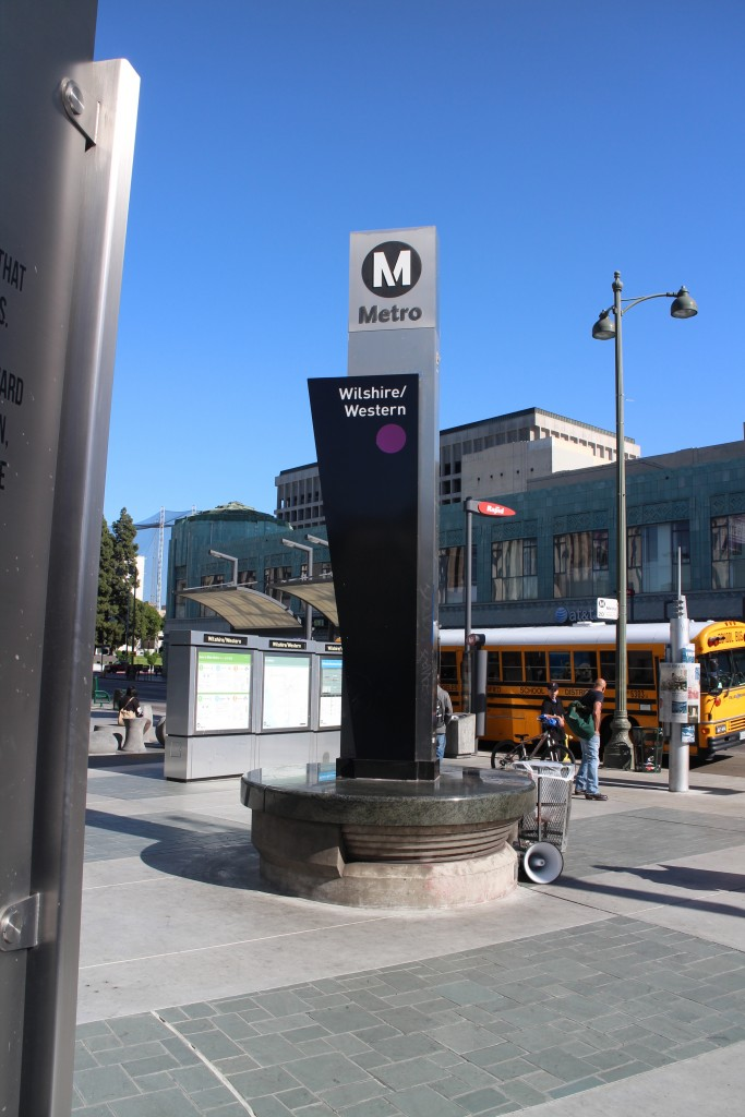 The Wilshire/Western station on the purple line is a good way to get to Koreatown
