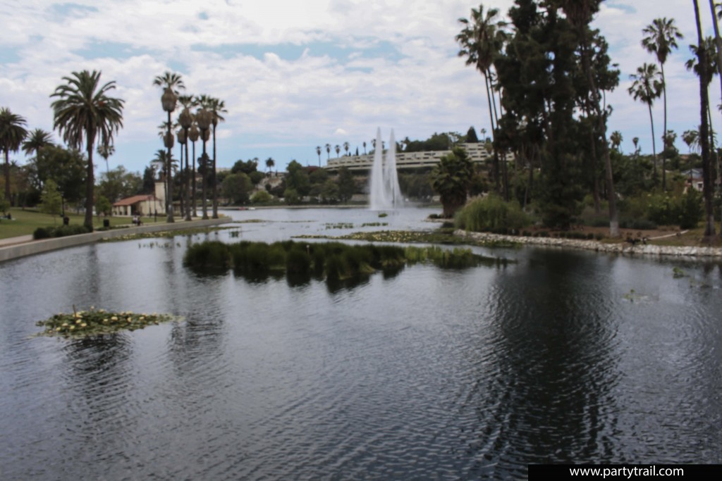 The Echo Park Lake is one of many attractions in this Neighborhood