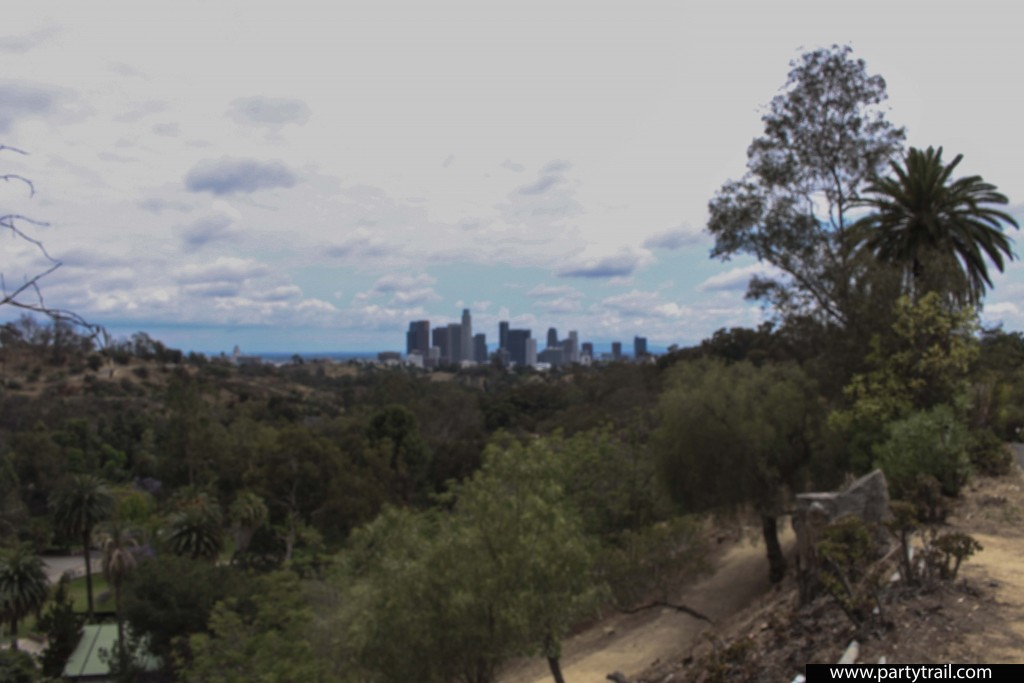 View of Downtown L.A. once at the top of the Baxter Stairway