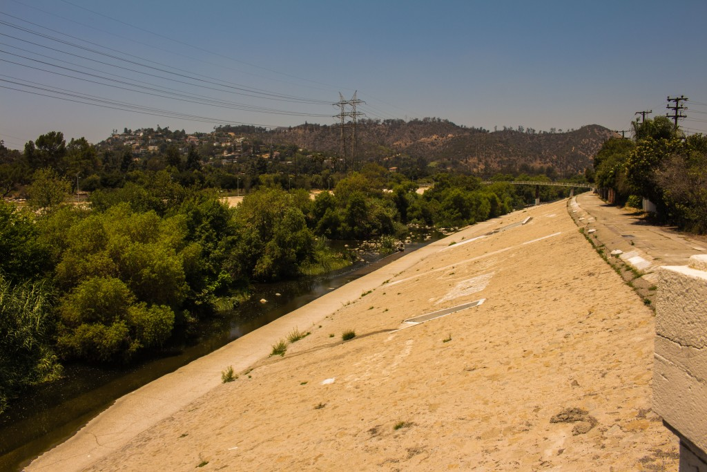 The Los Angeles River runs through Atwater Village