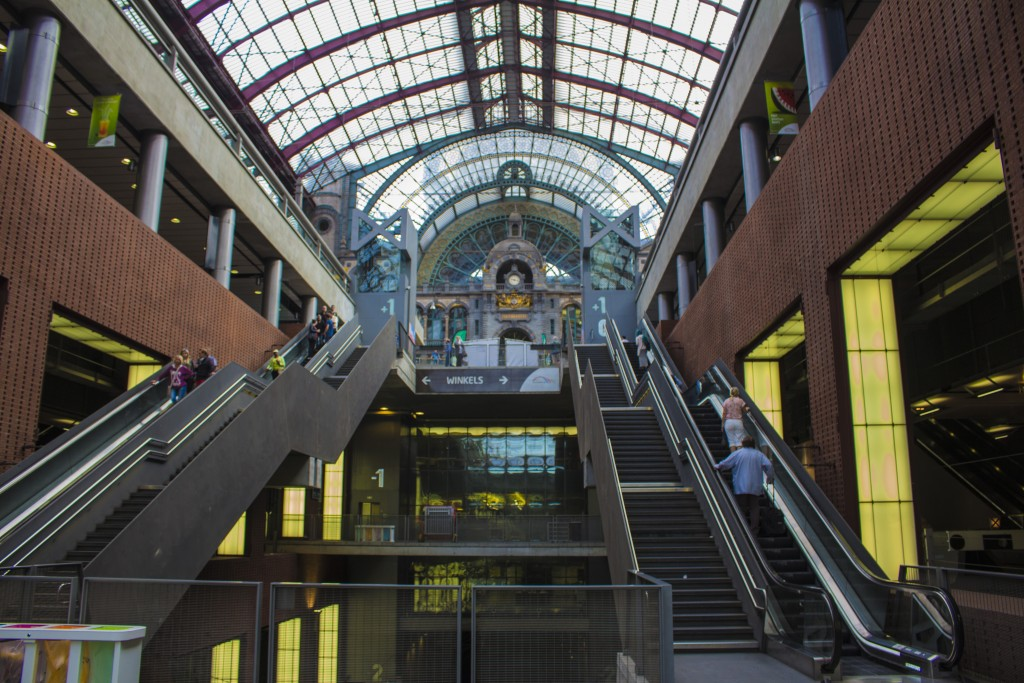 The Central Station In Antwerp Belgium.