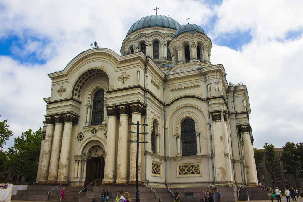 The Main Cathedral In Kaunas. Catholicism Is The Main Religion In Lithuania.