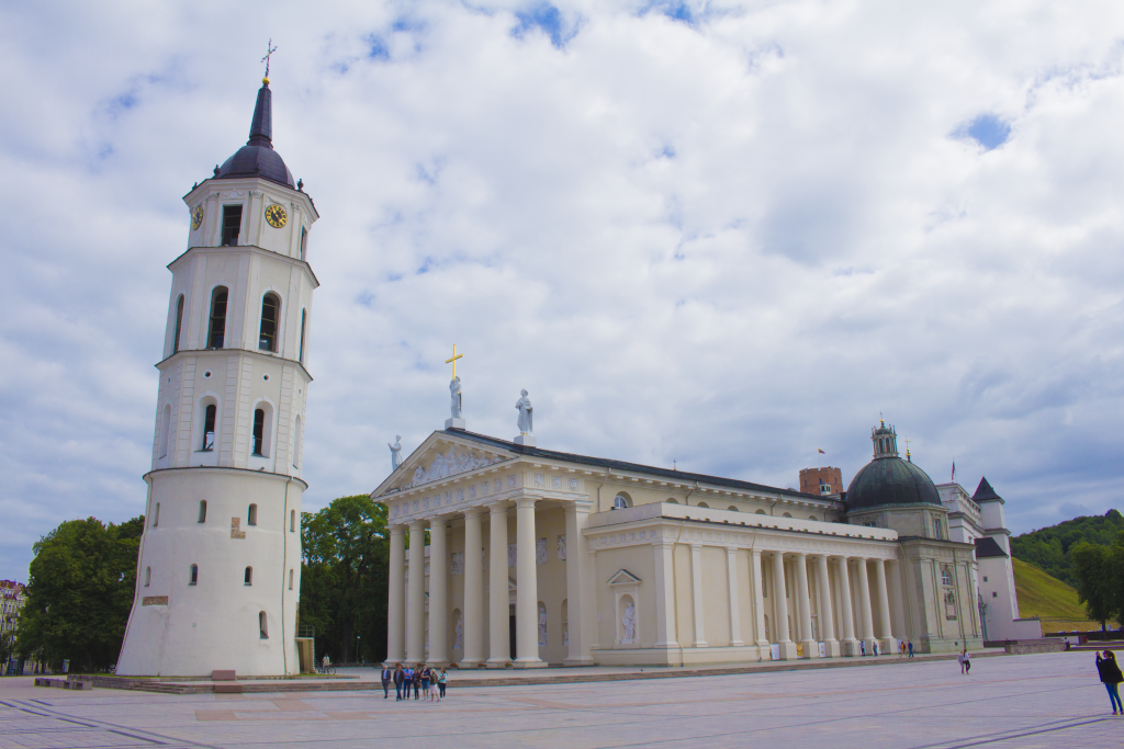 The Vilnius Cathedral Is One Of The Most Elegant Structures In Vilnius, Lithuania.