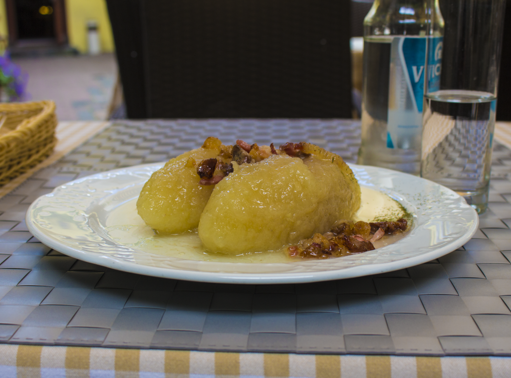 Cepelinai Is A Popular Lithuanian dish Made Of Potatoes And Meat.