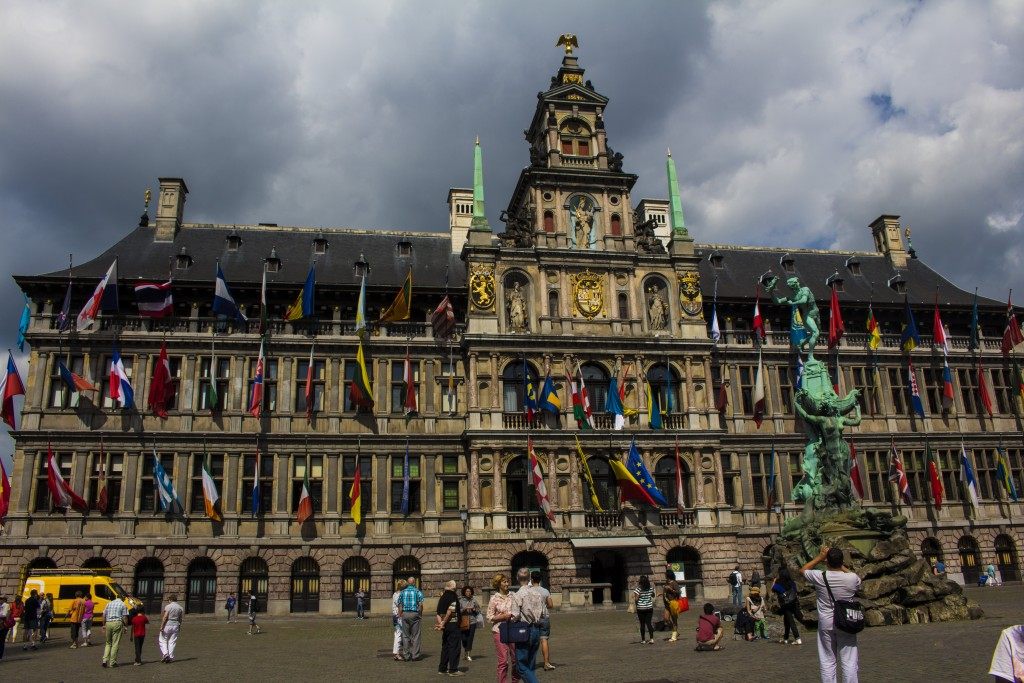 The City Hall In Antwerp, Belgium.