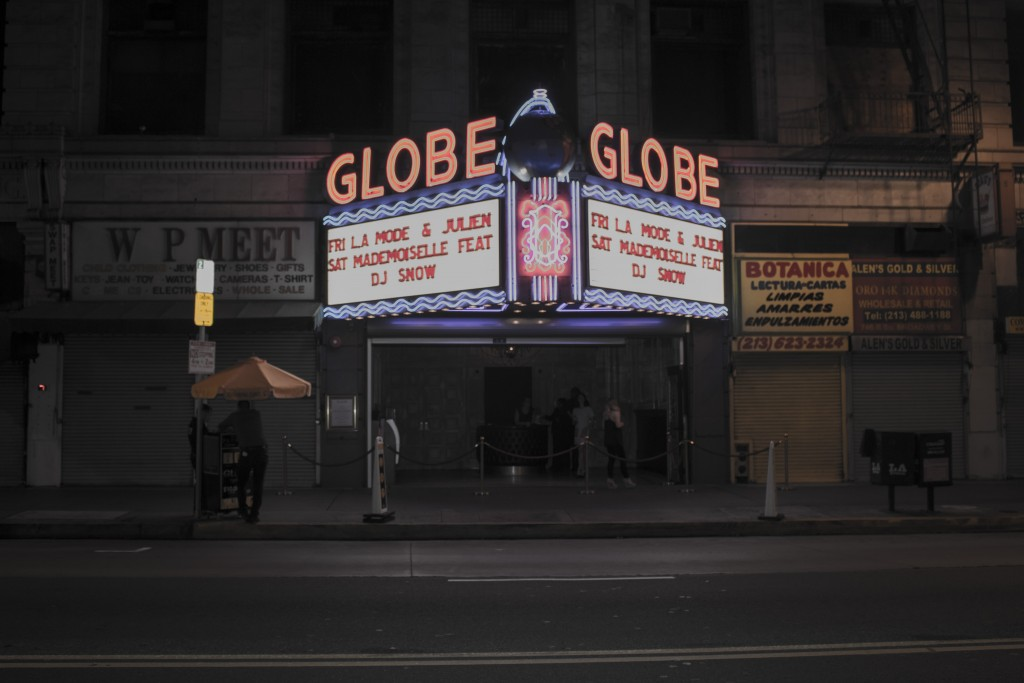 The Globe Theatre L.A. is located on 740 Broadway street