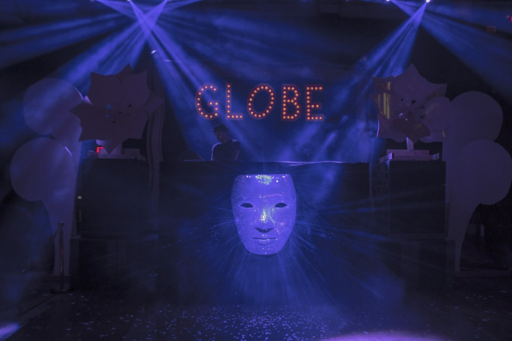 The DJ booth at Globe Theatre L.A.
