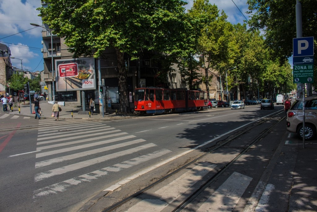 The Street Level Tram Is A Popular Form Of Transportation In Belgrade, Serbia.
