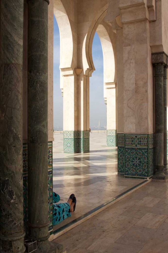 Intricate Patterns Decorate The Marble Pillars Used To Build The Mosque