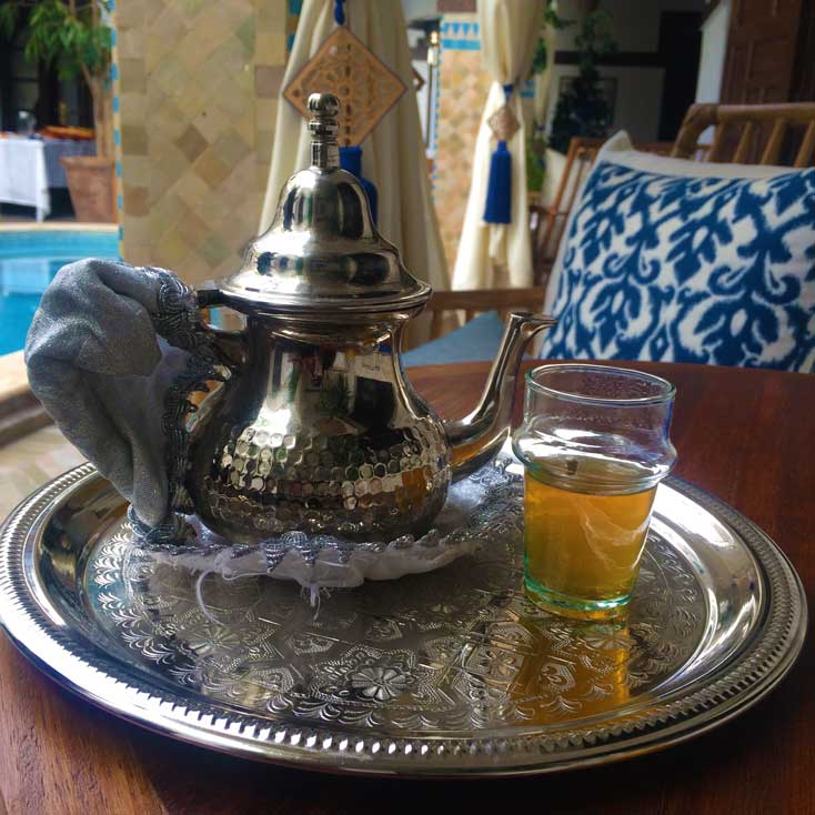 Welcome Tea Is A Common Theme At The Riads In Morocco