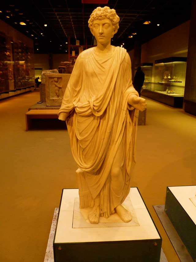 An ancient statue At The Roman-Germanic Museum In Cologne