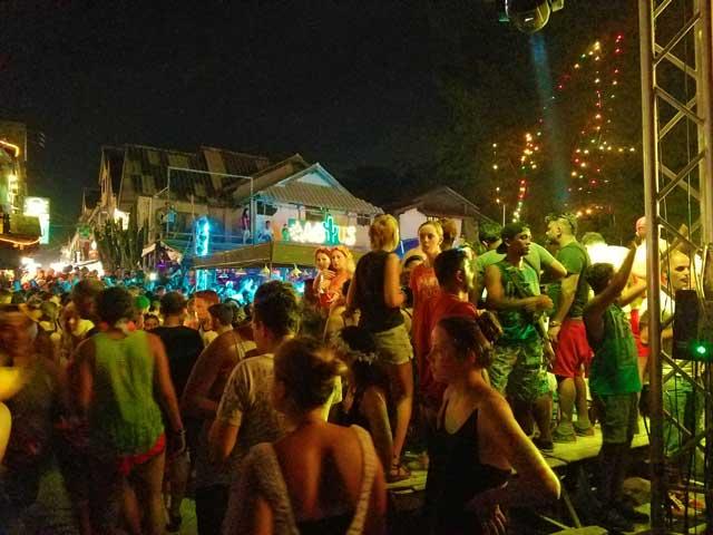 Revelers At The Fullmoon Party In Koh Phangan