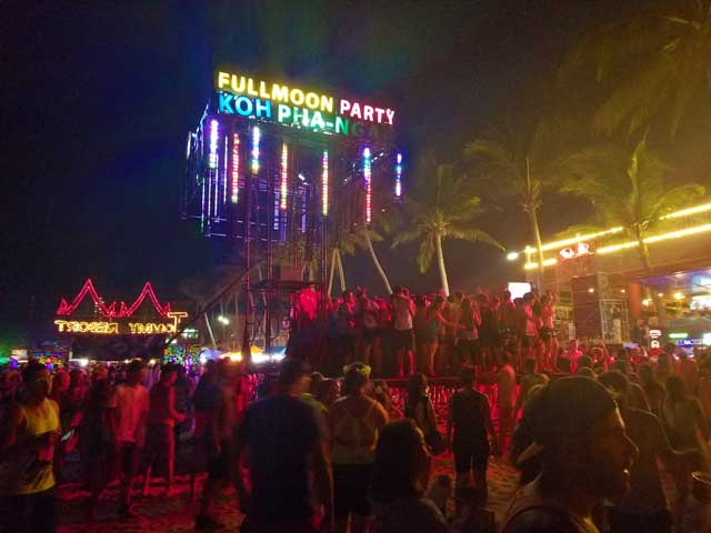 One Of The Stages At The Fullmoon Party In Koh Phangan Thailand