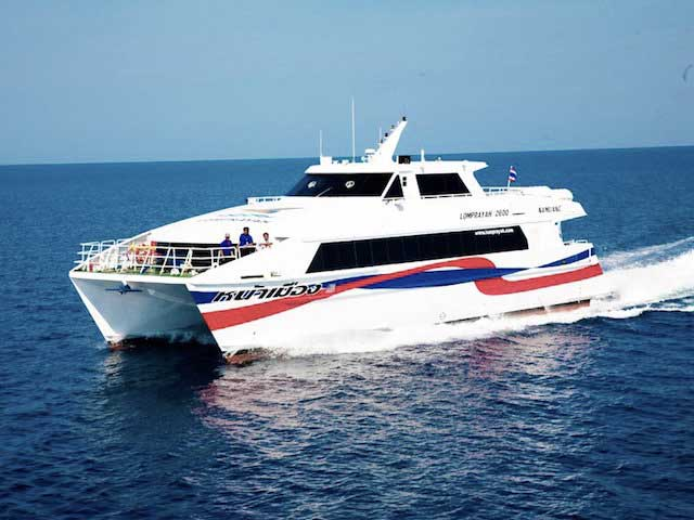 The Lomprayah Ferry Service Run Between Other Islands And Koh Phangan. Copyright 12go.asia