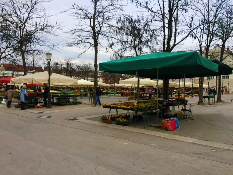 A Snapshot Of The Central Market In Slovenia
