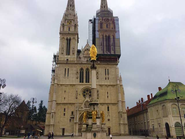 The Zagreb Cathedral In Zagreb Croatia