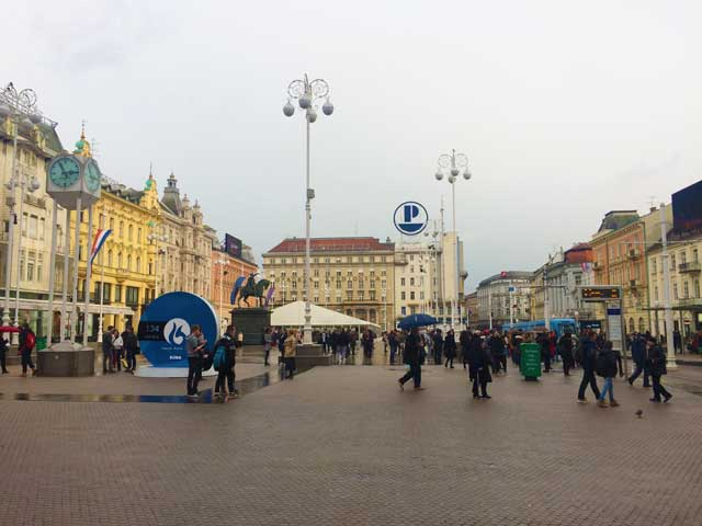 The Main Square in Zagreb Croatia