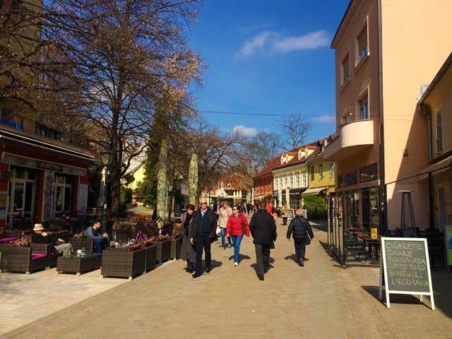 A snapshot of Tkalciceva street