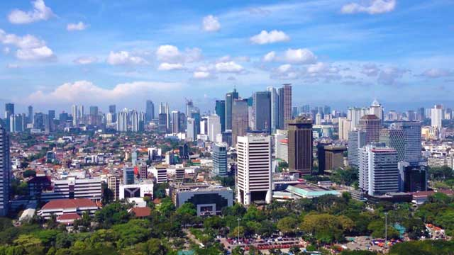 Jakarta has an impressive urban sprawl and is very cosmopolitan.
