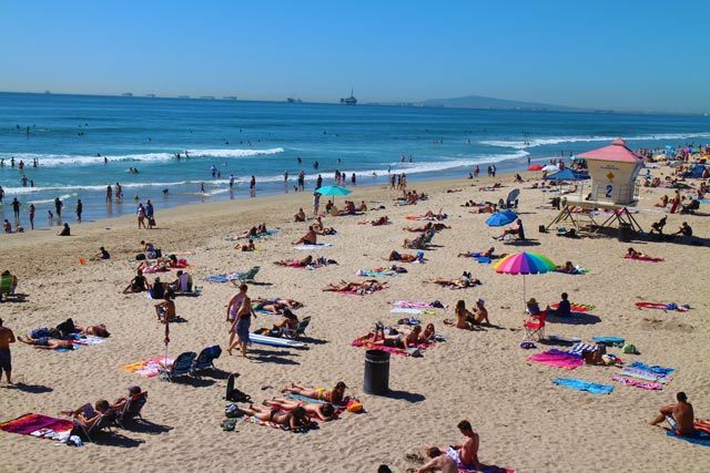Santa Monica Beach - one of the many beaches in Los Angeles
