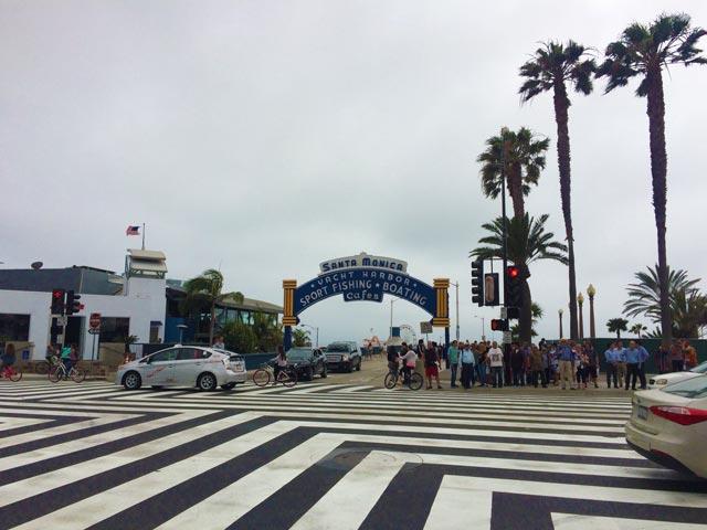 Santa Monica beach in Los Angeles California